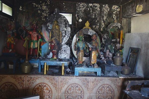Temple Pandialé de Ravine Creuse incendié 080521