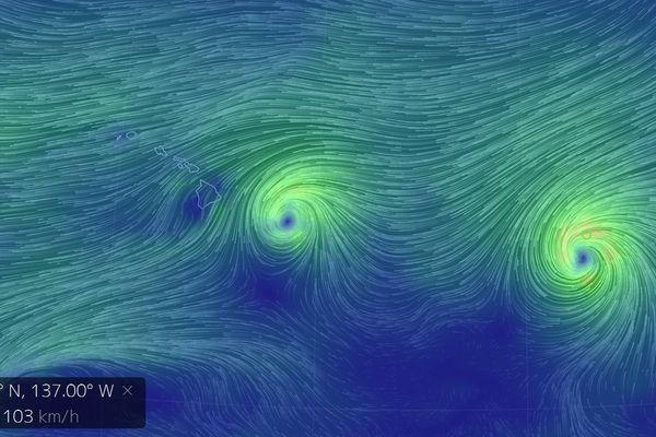 cyclones Iselle Julio Hawaii