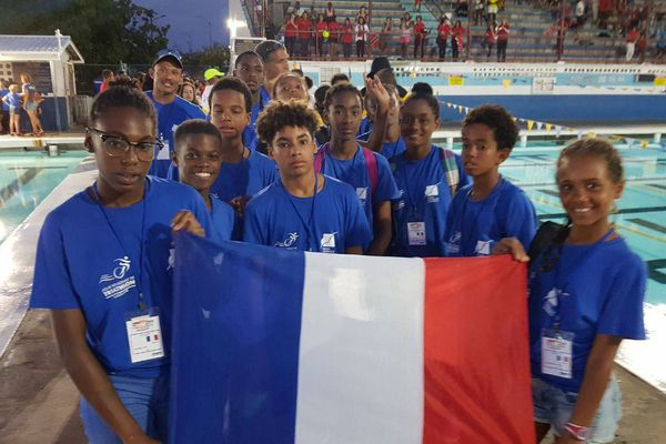Sélection Guadeloupe triathlon Carifta Games