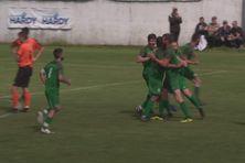 La joie des verts après le but de Seif Khellafi