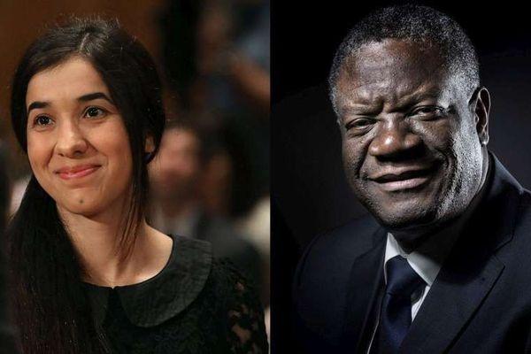Denis Mukwege (63 ans) et Nadia Murad (25 ans)