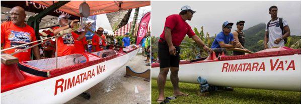 L'équipe de Rimatara va'a pendant la pesée des pirogues - Hawaiki nui va'a 2015