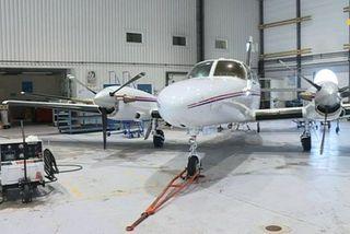 Le Cessna à l'arrêt