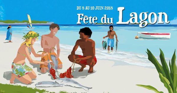Visuel 2018 de la Fête du lagon à Ouvéa.