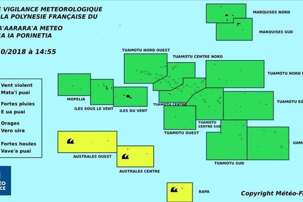 Vigilance jaune pour la forte houle aux Australes