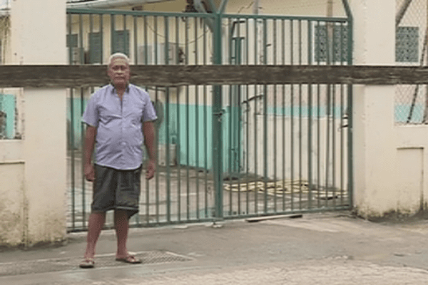 blocage du SPT à Futuna site de la station d'atterage du câble tuisamoa