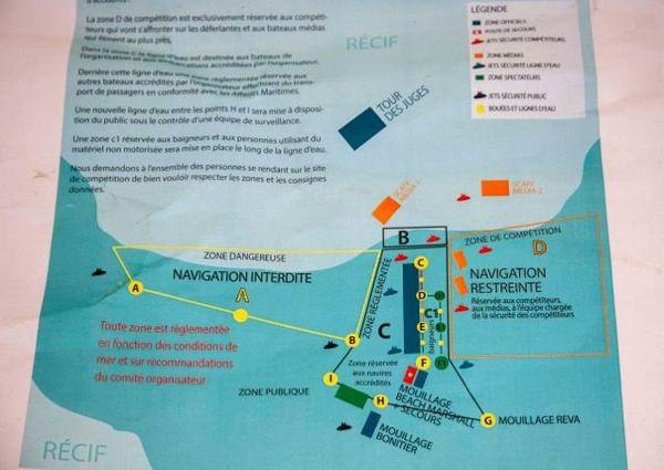 Billabong Pro Tahiti : zones accessibles au public et aux bateaux
