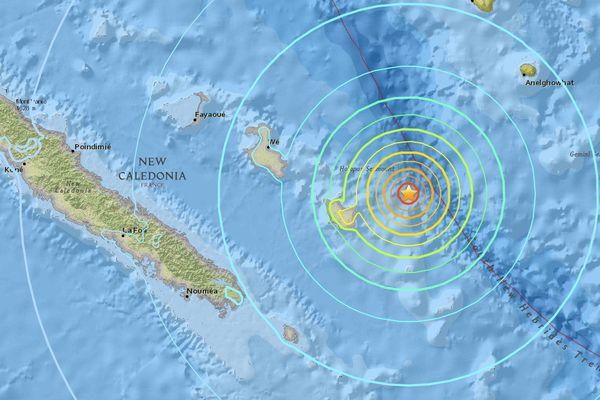 Carte du tremblement de terre  (20 novembre 2017