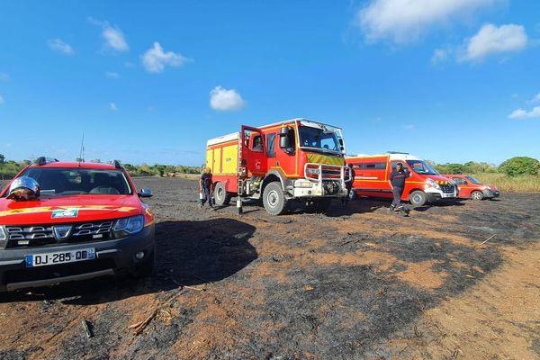 Les pompiers n'ont pas lésiné sur les moyens