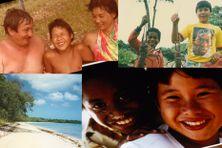 Sébastien Lepers avec ses parents et son ami Antoine, souvenirs d'enfance sur l'île des Pins en Nouvelle-Calédonie