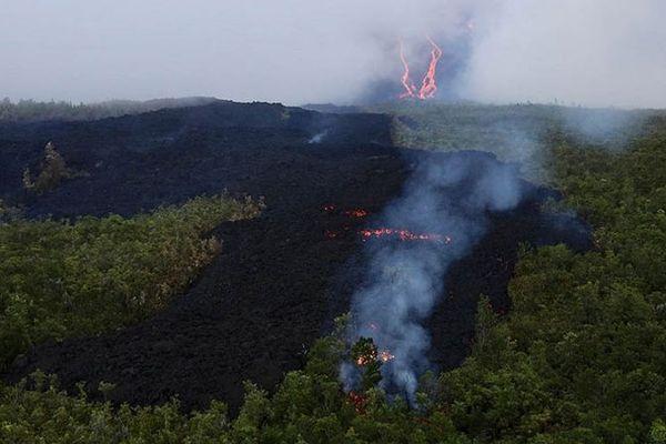 Eruption du Piton de la Fournaise, août 2019.
