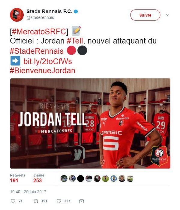 Jordan Tell Stade Rennais