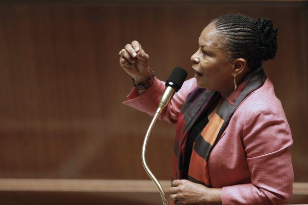 Christiane Taubira lors des débats à l'Assemblée sur le mariage pour tous