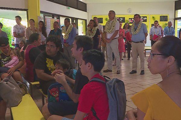 Pirae : visite du président du Pays et du Haut-commissaire pour la rentrée