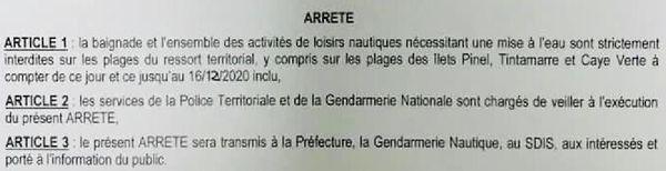 Requin : arrêté d'interdiction de baignade, à Saint-Martin - 11/12/2020