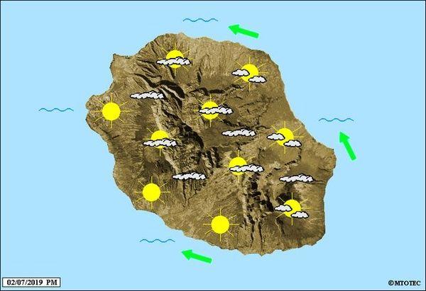 Carte météo 3 juillet 2019