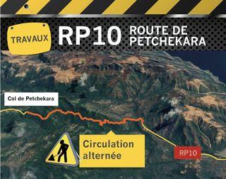 Carte de travaux route de Petchékara