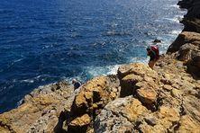 Calcaires éocènes à Saint-Barthélemy où ont été découverts des restes d'Amblyrhiza