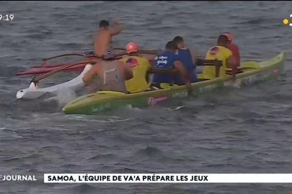 Jeux du Pacifique 2019 : l'équipe va'a de Samoa attend les tahitiens de pied ferme