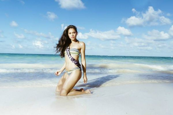 Miss Tahiti 2014, Hinarere Taputu, à Punta Cana - Election Miss France 2015