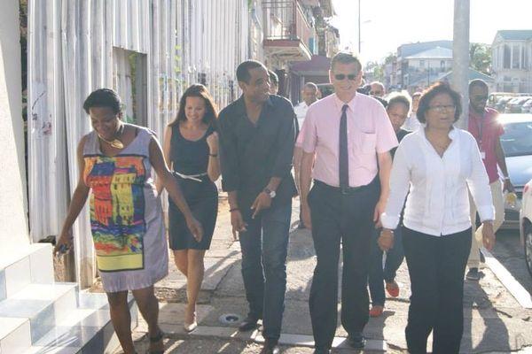 Maire, Préfet et Président des commerçants de Cayenne
