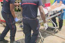 Prise en charge d'une patiente Covid, par les pompiers, le 05/08/2021