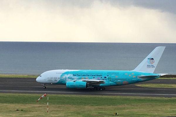 A380 arrive au parking