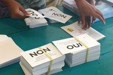 En 2020, durant la mise sous pli de la propagande officielle et des bulletins avent le deuxième référendum.