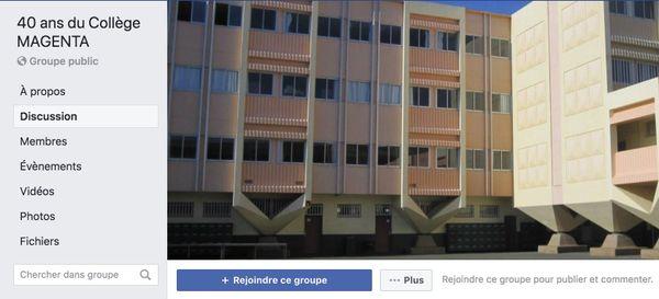 40 ans du collège de Magenta : groupe FB