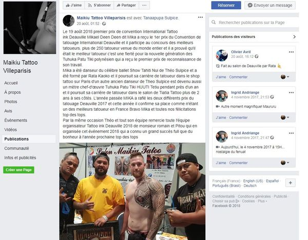 Facebook tattoo ok