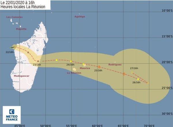 tempete tropicale venue de Madagascar 220120