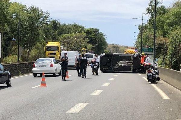 Spectaculaire accident au Chaudron, mardi 2 octobre.