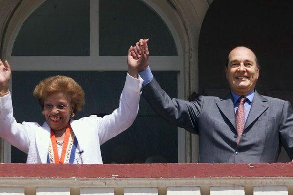 Lucette Michaux Chevry et Jacques Chirac