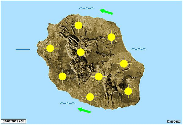 Carte météo 2 mars 2021