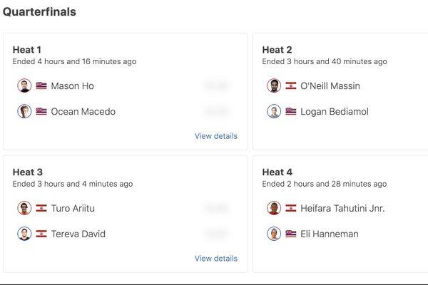 Rangiroa Pro 2020 : Quarts de finale