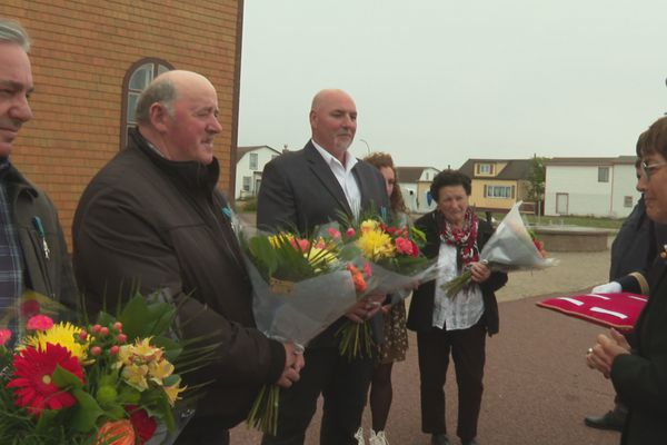 Annick Girardin honore quatre résident de Miquelon