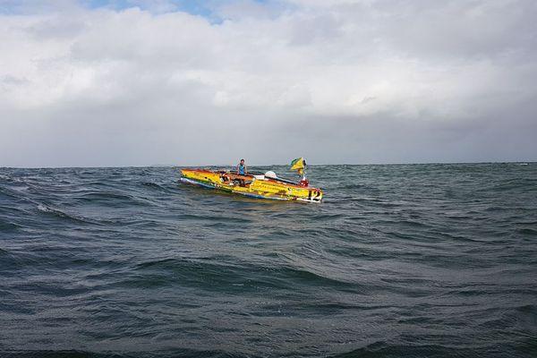 L'arrivée de Nicoals Maubert à Kourou