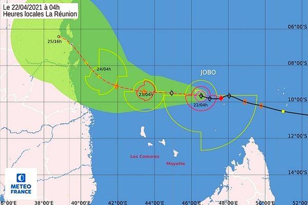 Jobo passe loin de Mayotte 22 avril 2021