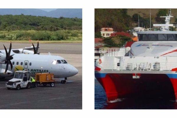 Avion et bateau