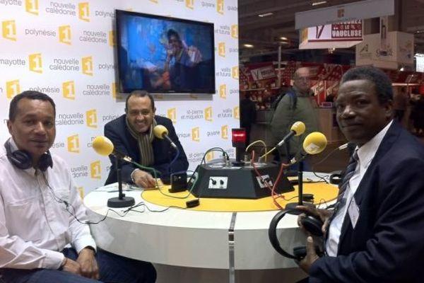 Outre-mer 1ère, la radio, présente chaque jour sur le stand France Télévisions avec Jean-Marc Thibaudier et ses invités