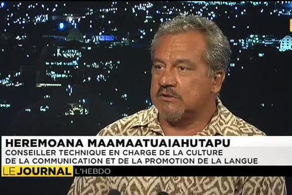 Heremoana Maamaatuaiahutapu, invité du journal de Polynésie 1ère