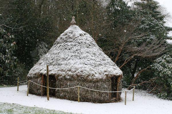 Case sous la neige bretonne