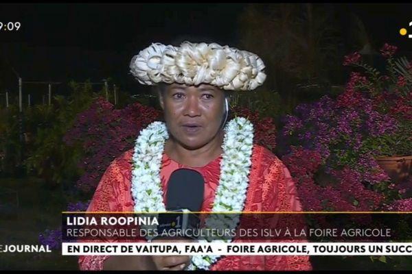 Invitée du journal : Lydia Roopinia, responsable des agriculteurs des Iles Sous le Vent à la foire agricole