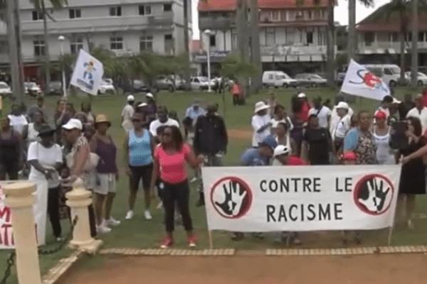 marche contre le racisme à Cayenne