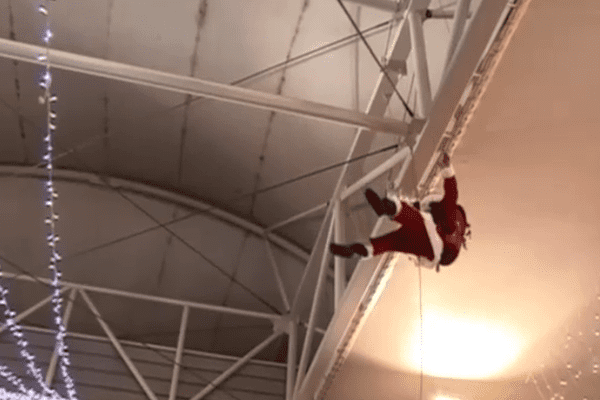 Père Noël en rappel