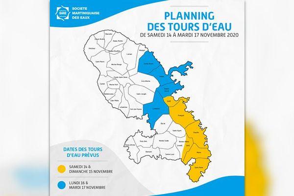 Planning tour d'eau SME