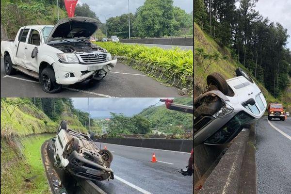 Trois blessés dans un accident impliquant trois véhicules, à Tahara'a