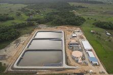 Vue aérienne de l'usine d'eau potable de Matiti