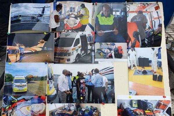 panneau de présentation  profession ambulancier