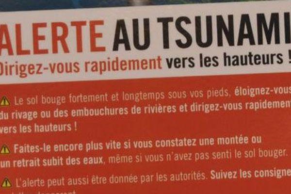 Consignes en cas de menaces tsunami